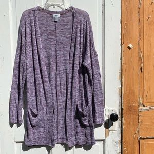 Old Navy long purple cardigan Size Large